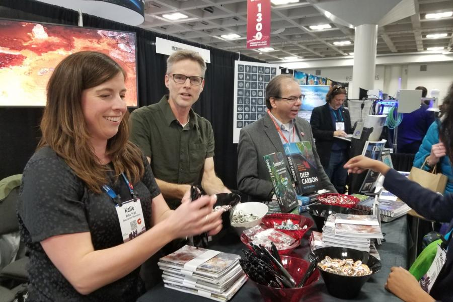 The Deep Carbon Observatory booth at AGU 2019